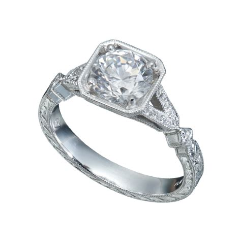 deco style engagement ring deco collection christopher duquet jewelry