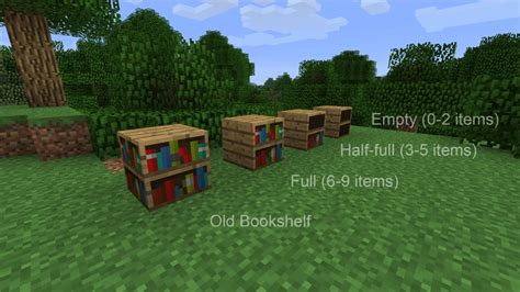 minecraft usable bookshelves mod top of the mods