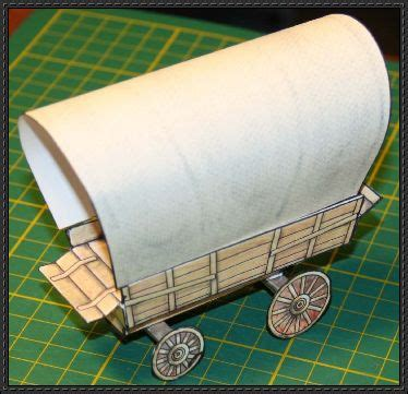 How To Make A Paper Wagon - west covered wagon free paper model