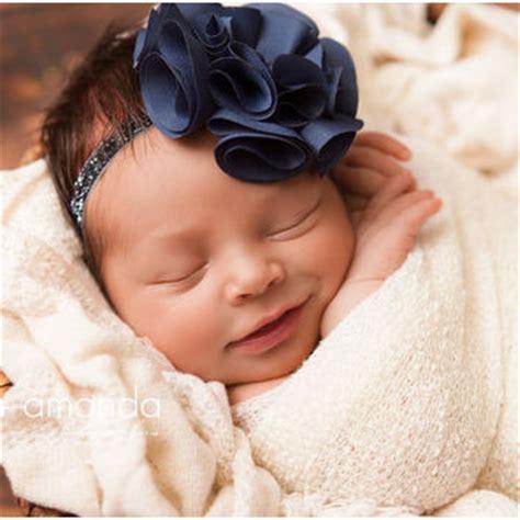 best navy blue flower headband products on wanelo