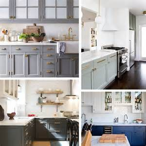 kitchen trend painted cabinets and brass hardware