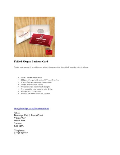 folded business card template uk folded 300gsm business cards by stewart30 issuu