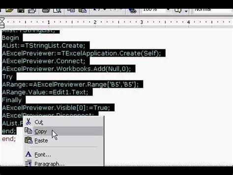 delphi excel tutorial delphi export ke excel avi youtube
