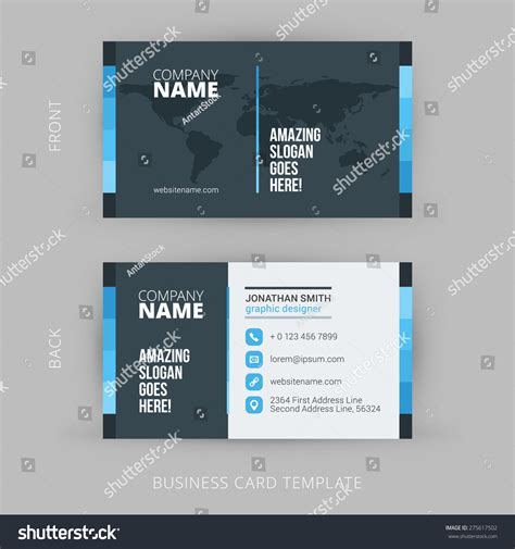 svg business card template creative clean vector business card template stock vector