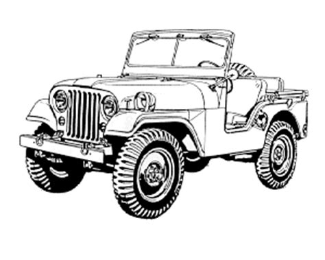 army jeep drawing willys military jeep drawings sketch coloring page