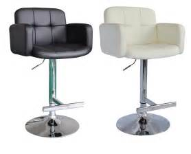 1 new black pu swivel faux leather breakfast kitchen bar stools pub barstools ebay