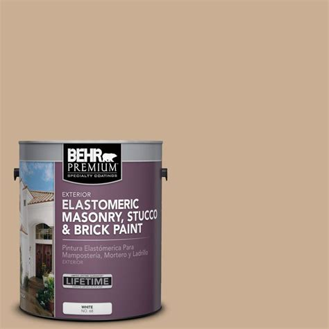 behr 1 gal white flat masonry stucco and brick paint 27001 the home depot