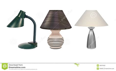 Table Lamp Vector Image Table Lamps Set Stock Vector Image 48976592