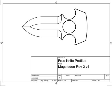 templates for knives megalodon pdf template and cad link belnap custom knives llc