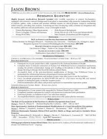 research scientist resume sle research on resume sales researcher lewesmr