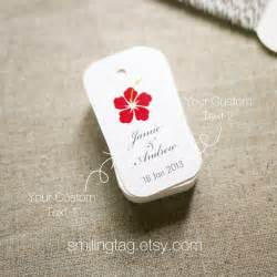 Hawaiian Themed Wedding Favors by Hawaiian Theme Wedding Favor Tags Personalised Gift By