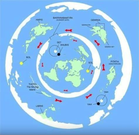 flat earth maps page