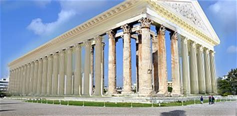 Statues Of Gods Temple Of Olympian Zeus Athens Wikipedia