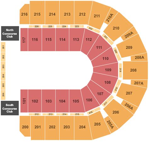 iwireless center seating view ringling bros tickets seating chart taxslayer center