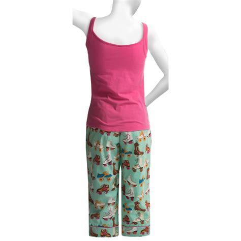 Pajamas With Shelf by Munki Munki Shelf Camisole And Capris Pajamas For