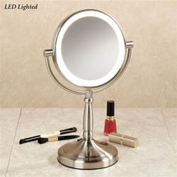 Vanity Lighted Vanity Mirror Cordless Led Lighted 10x Magnifying Vanity Mirror