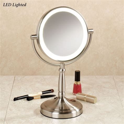 light mirror cordless led lighted 10x magnifying vanity mirror