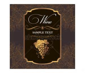 Wine Bottle Labels Template 22 wine label templates free sle exle format