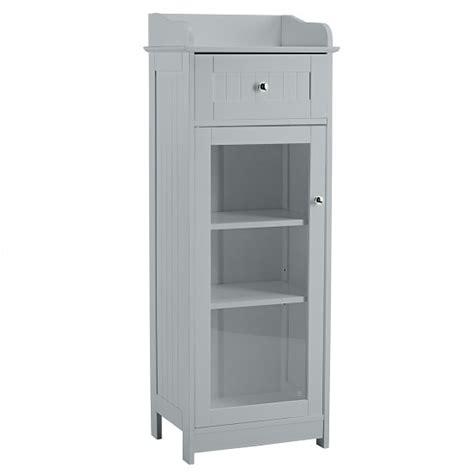 grey bathroom storage cabinet adamo bathroom storage cabinet in grey with 1 glass door