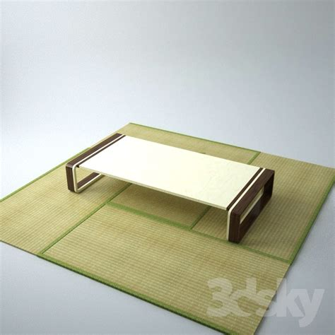 Tatami Table by 3d Models Table Tatami Mats Japanese Table