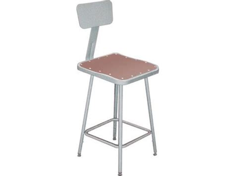 Stools Does by Nps Adjustable Square Metal Lab Stool With Backrest 19 27