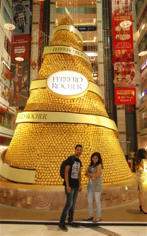 vibgyor creates  tall ferrero rocher pyramid india news