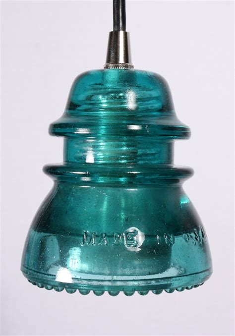 Antique Insulator Pendant Lights Industrial Pendant Lights Made From Antique Glass Insulators Nc736 For Sale Antiques