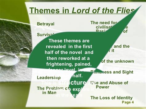 leadership themes in lord of the flies 5 lotf structure