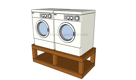 Washing Machine Pedestal Plans washer dryer pedestal plans howtospecialist how to build step by step diy plans