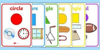 French Word For Desk 2d Shape Posters With Everyday Examples 2d Shapes 2d