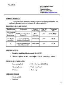 Resume Sles Of Bcom Fresher Free Resume Format For Bcom Freshers Joshuamartinez Org