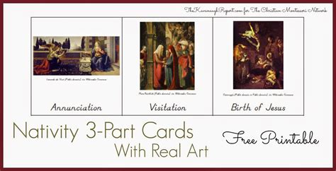 free printable montessori three part cards montessori nativity 3 part cards with free printable