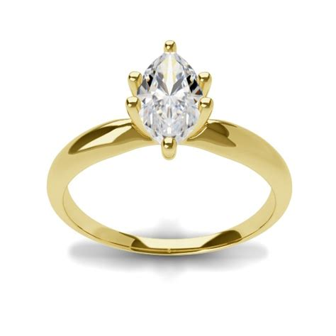 marquise engagement ring 70 1 25 ct g si1 marquise cut solitaire ring