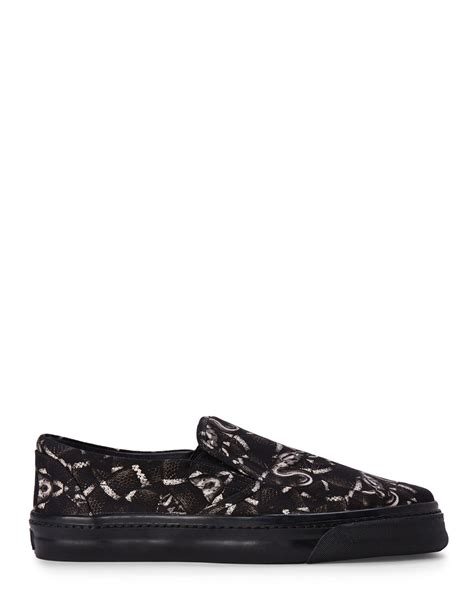 snake print slip on sneakers lyst marcelo burlon snake print slip on sneakers in black