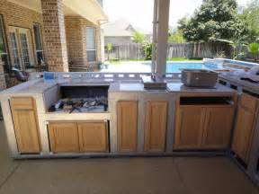 Diy Outdoor Kitchen Cabinets Diy Outdoor Kitchen Cypress Tx