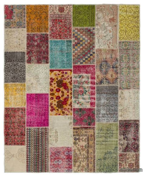 Turkish Patchwork Rug - k0021185 turkish patchwork rug kilim rugs overdyed
