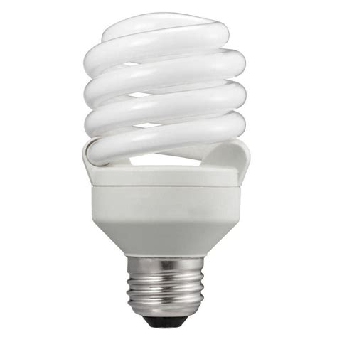 Lu Philips Spiral 32 Watt philips 75w equivalent soft white t2 spiral cfl light bulb 24 pack 434365 the home depot