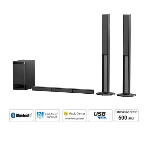 sony ht rtht rt  channel sound bar home theatre