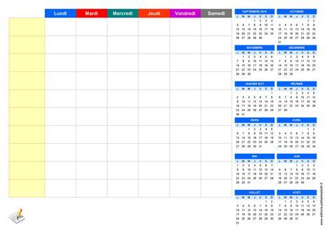 Calendrier 1 Semaine Imprimez Semainier Planning De Semaine Agenda