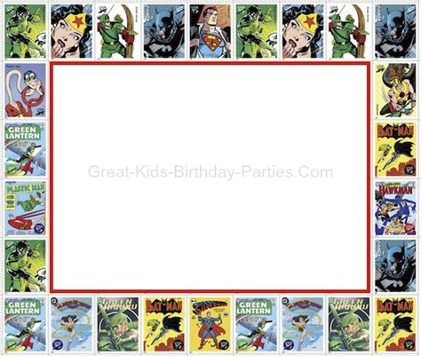 best of superhero party invitation template free or superhero party