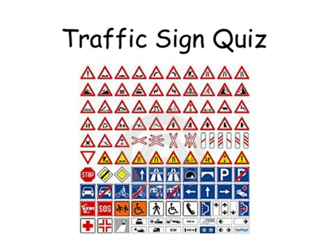 printable road sign quiz form time quizzes by katekn teaching resources tes