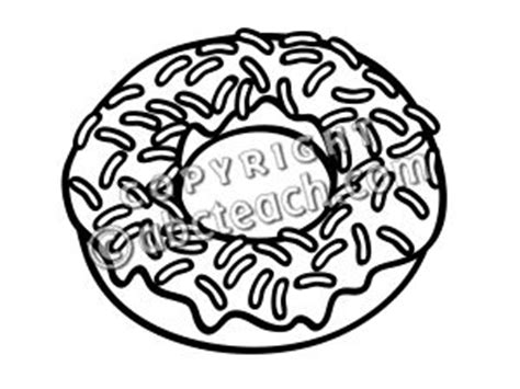 sprinkle donut coloring page clip art doughnut frosted w sprinkles coloring page