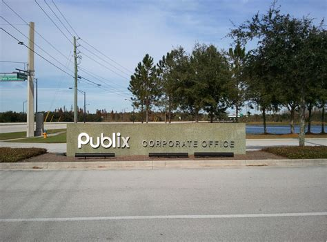 file publix corporate headquarters entrance sign