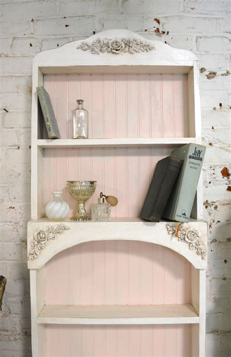 painted cottage chic shabby white handmade bookcase