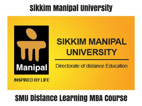 Distance Learning Mba Courses From Delhi by Smu Distance Learning Mba Course Distance Education Delhi