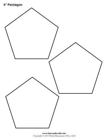 pentagon template pentagon template 4 inch tim s printables
