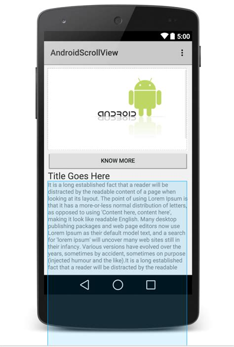 android scrollview android scrollview exle panayiotis georgiou