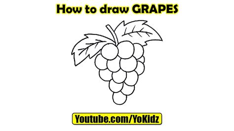 How To Make Paper Grapes - how to draw grapes