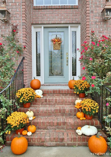 Pumpkins On Front Porch decorating a front porch for fall