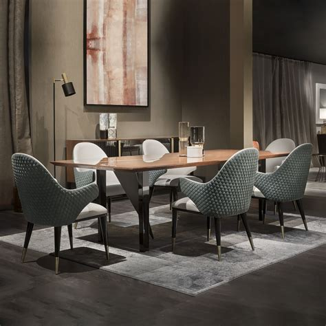 large contemporary italian dining table set